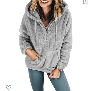 Sherpa sweater quarter zip
